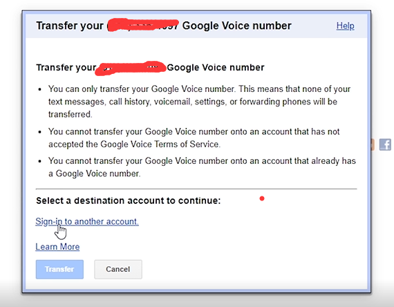 How to Transfer Google Voice Number to another Gmail? 5